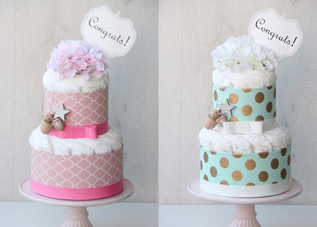 出産祝いやベビーシャワーに♡見栄えも中身も魅力的なおむつケーキ特集