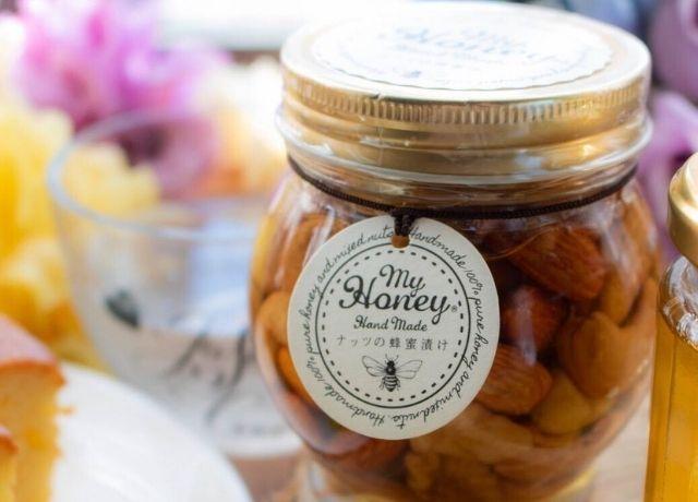 アレンジ色々楽しめて美味しい♡生蜂蜜専門店MYHONEY【ナッツの蜂蜜漬け】