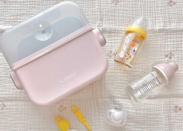 5分で消毒完了!哺乳瓶などの赤ちゃんグッズを簡単除菌♡combiの『除菌じょ~ずα』