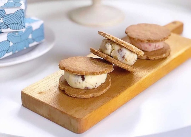 お酒にも合う大人のヘルシー和スイーツ♡可愛いパッケージが魅力の『米粉のバターサンド』
