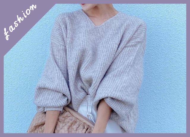 【3,000円以下!送料無料】Pierrotの自宅で簡単に洗える『ボリューム袖ニット』