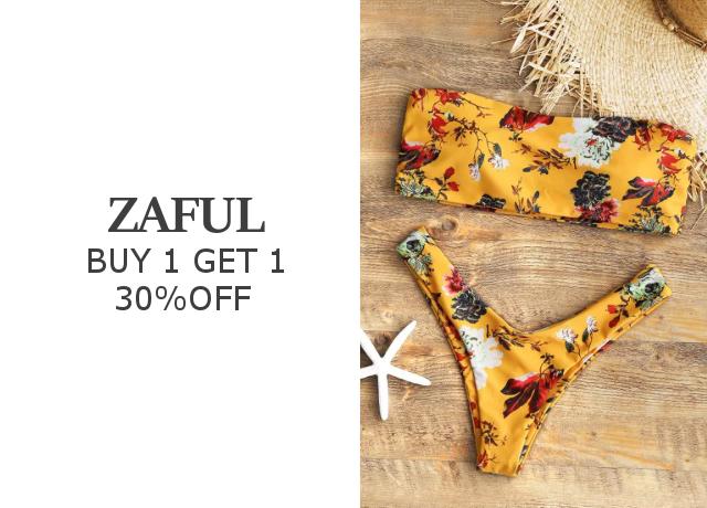 水着を買うなら今が買い!ZAFULなら2枚買うと1枚30%OFFになるビッグセール開催