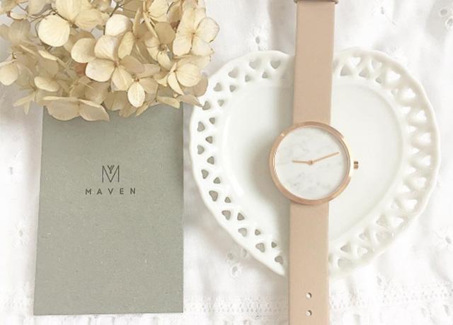 インスタで話題!高級感のある大理石フェイスのおしゃれ腕時計