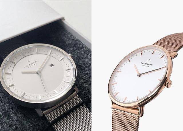 海外ブランドnordgreenのシルバー&ローズゴールド腕時計がおしゃれ♡