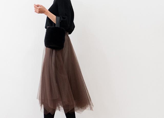 おしゃれロングスカートで冬のコーデを楽しもう♡ETREBLOOMの新作スカート