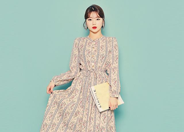 春に着たい花柄ロングワンピースなら♡韓国通販「HOTPING」が安くておすすめ