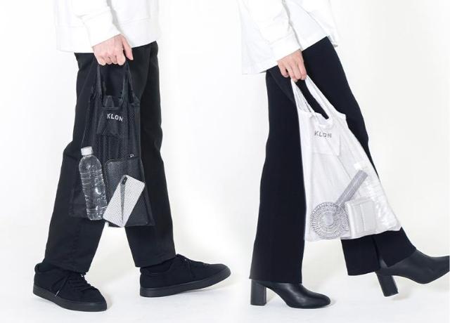 KLONから折りたたみ可能なポケットサイズの軽量ミニバッグ POCKETABLE MESH BAGが登場!