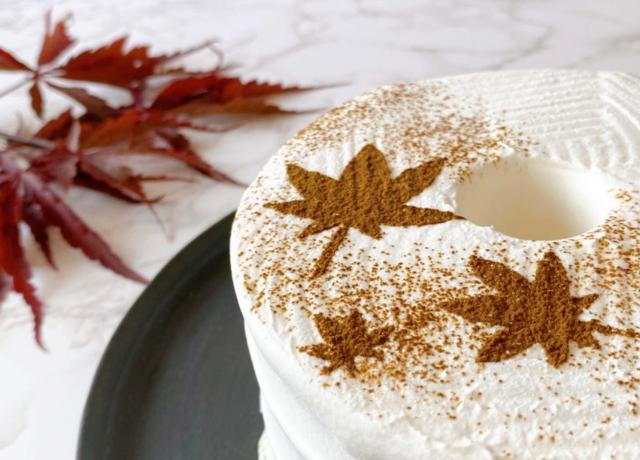 This is CHIFFON CAKE.で秋を楽しむお洒落なシフォンケーキ『MOMIJI』が新発売♪